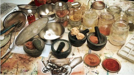 SUMMER MASTERCLASSES 2: Workshop pigment making with natural materials